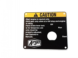 127-141 PLATE, CAUTION KEY SWITCH