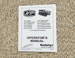 10690C MANUAL, OPERATORS AURORA 2020