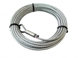 W68851 WARN WIRE ROPE 4.0-4.5 7/32 X 55'