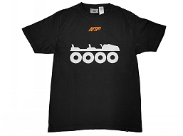 900-0189 T-SHIRT, WHEELS BLACK ARGO