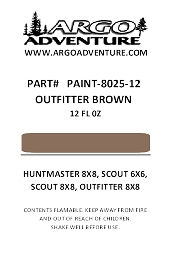 SPRAY PAINT 8025-12  PAINT, TOUCH-UP OUTFITTER BROWN 12OZ CAN