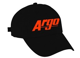 AA105491BL - ARGO ATV BLACK HAT W/ ORANGE LOGO