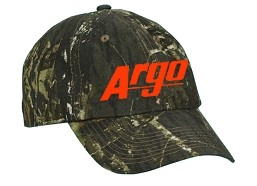 AA119229MO - ARGO ATV MOSSY OAK BREAK-UP HAT W/ ORANGE LOGO
